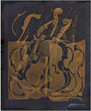 Gravure originale signée de  : Sans titre XIX