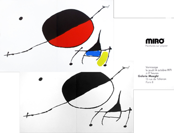 Exhibition invitation card de Miro Joan : Invitation cards