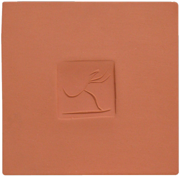 Numbered Madoura ceramic de  : Square with dancer