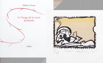 Book with etching de  : Le voyage de la racine Alechinsky