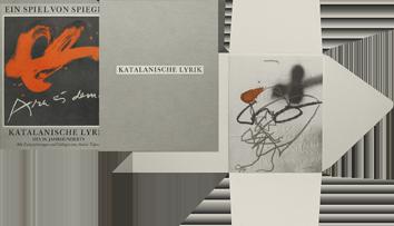 Livre avec lithographie de  : Katalanische Lyrik