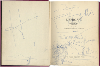 Dessin original signé de  : Erotic Art