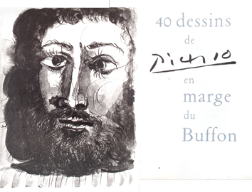 Illustrated book de Picasso Pablo : 40 drawings for the Buffon