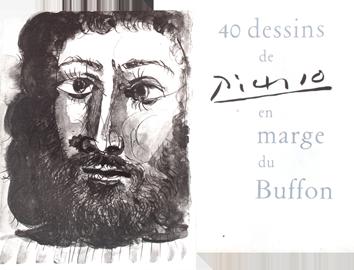 Livre avec reproductions de  : 40 dessins en marge du Buffon