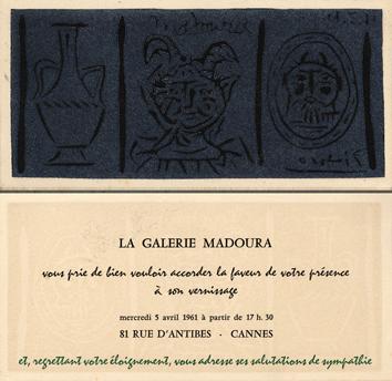 Linogravure originale de  : Madoura I