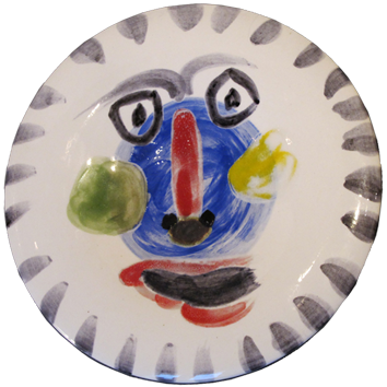 Numbered Madoura ceramic de Picasso Pablo : Face n°202