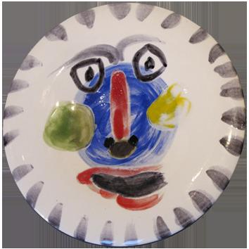 Céramique madoura numérotée de  : Visage n°202