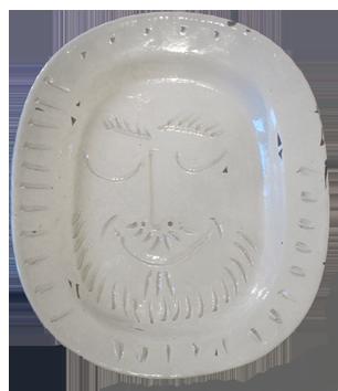 Numbered Madoura ceramic de  : Man's face