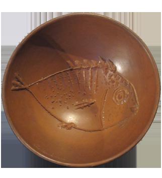 Madoura ceramic de  : Fish in profile