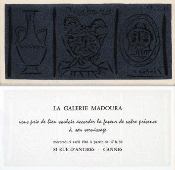 Originale Linolschnitt de  : Madoura II