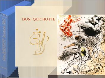 Libro con litografie de  : Pagine selezionate di Don Quichotte