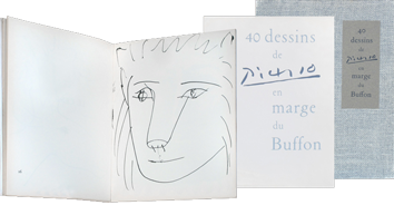 Illustrated book de Picasso Pablo : 40 dessins de Picasso en marge du Buffon