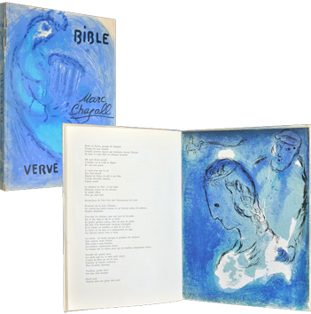 Book with lithographs de Chagall Marc : Bible