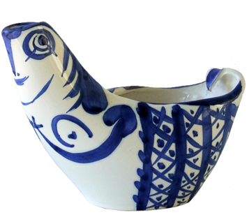 Madoura ceramic de  : Hen subject