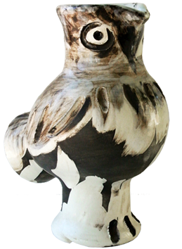 Numbered Madoura ceramic de Picasso Pablo : Wood-owl