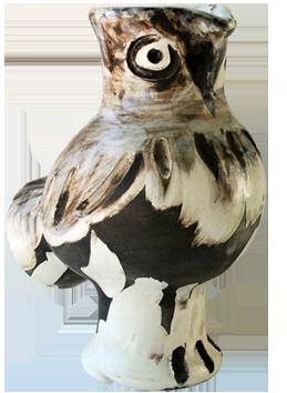 Céramique madoura numérotée de  : Vase Chouette