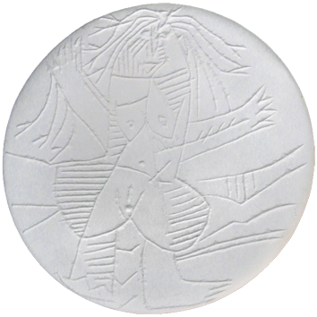 Céramique madoura numérotée de  : Femme échevelée