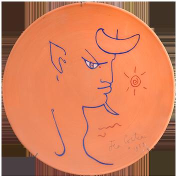 Multiple original signé de  : Chêvre-pied bleu - Profil droit