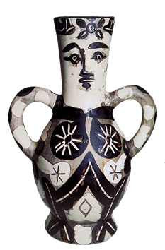 Madoura ceramic de Picasso Pablo : Vase with two handles