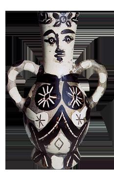 Madoura ceramic de  : Vase with two handles