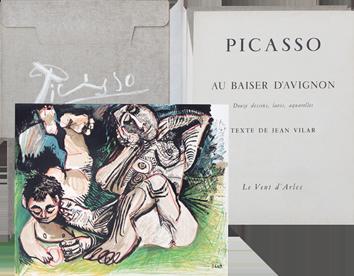 Portfolio avec lithographies de  : Au baiser d'Avignon