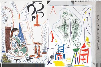 Book with lithographs de  : Dans l'atelier de Picasso