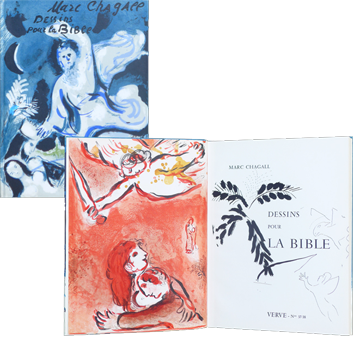 Book with lithographs de Chagall Marc : Dessins pour la Bible