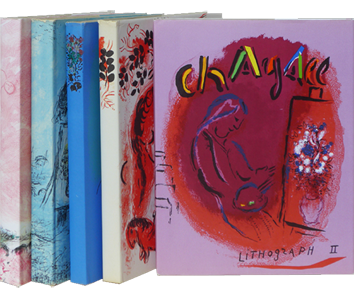 Book in several volumes de Chagall Marc : Chagall Lithographe, Volumes II, III, IV, V, VI