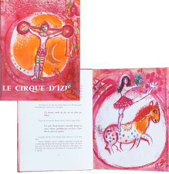 Illustrated book de Chagall Marc : Le cirque d'Izis