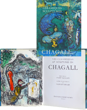 Book with lithograph de Chagall Marc : Ceramics and sculptures