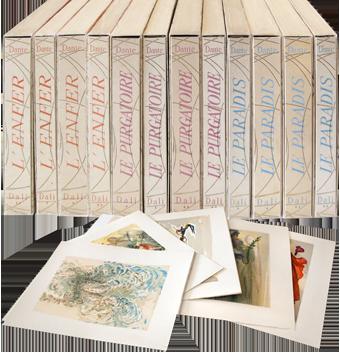 Libro in molti volumi de  : La Divina Commedia, 12 volumi