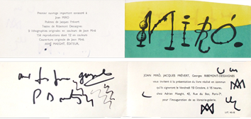 Exhibition invitation card de Miro Joan : Invitation card III