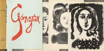 Book with etchings de  : Vingt poèmes de Gongora