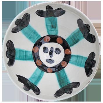 Madoura ceramic de  : Face