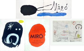 Cartons d'invitation exposition de Miro Joan : Cartons d'invitation
