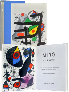 Book with lithographs de Miro Joan : Miro à l'encre
