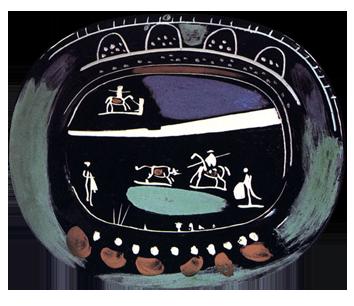Original ceramic de  : Green bullfight