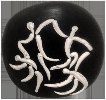 Céramique empreinte originale de  : Quatre danseurs