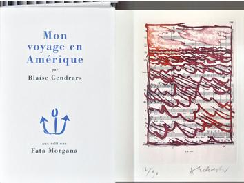 Livre avec gravure de  : Mon voyage en Amérique