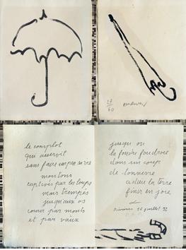 Original signed book de  : Fermer enfin son parapluie