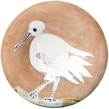 Numbered Madoura ceramic de Picasso Pablo : Bird n°86