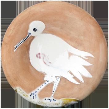 Céramique madoura numérotée de  : Oiseau n°86