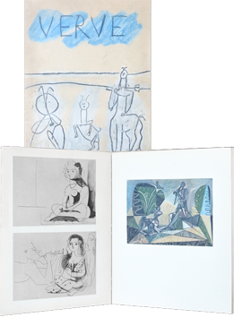 Illustrated issue de Picasso Pablo : Verve Vol. V, n° 19 and 20