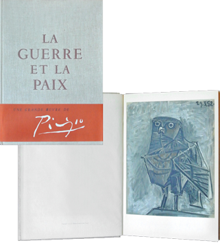 Illustrated book de Picasso Pablo : La Guerre et la Paix