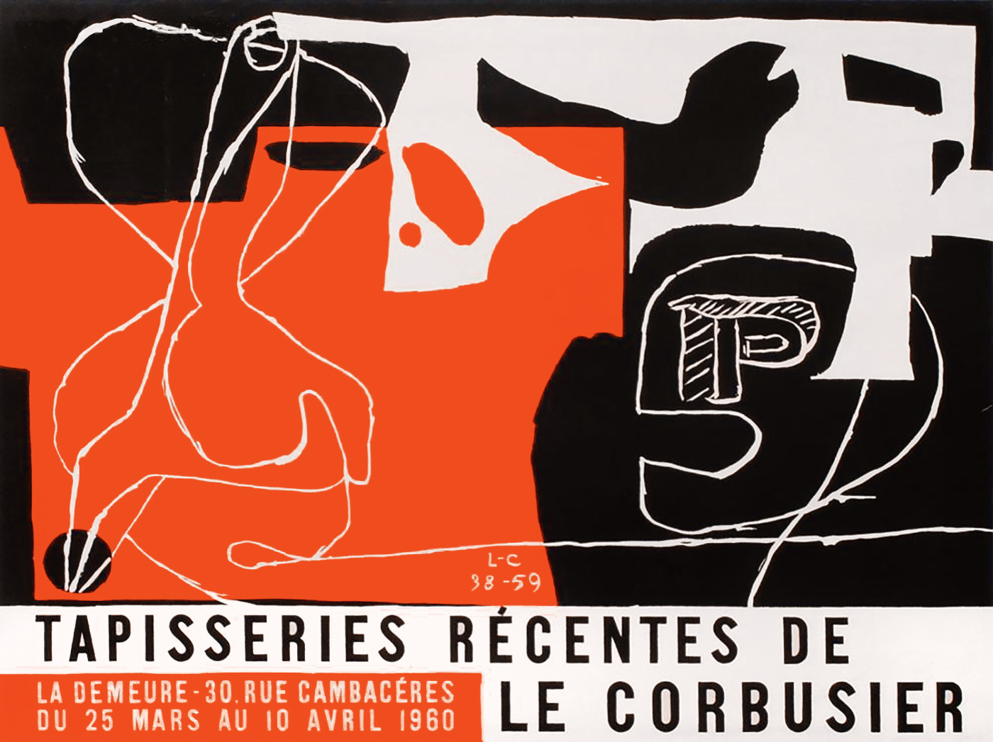 Le Corbusier Werke : le corbusier 1960 la demeure ausstellung plakat lithographie ~ A.2002-acura-tl-radio.info Haus und Dekorationen